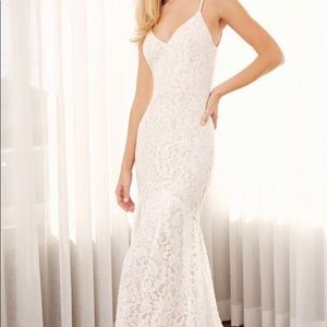 Lulus Flynn White Lace Maxi Dress Size S